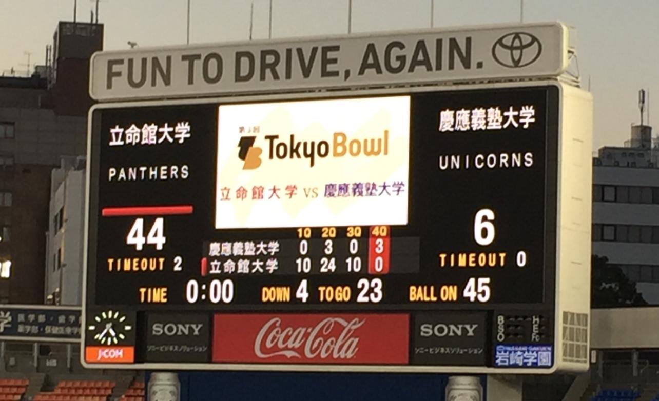 東京ボウル2016結果