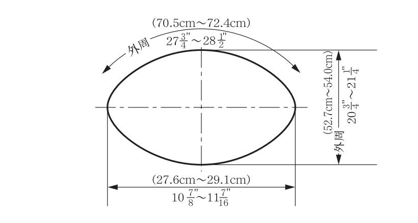 アメフト ボール サイズ