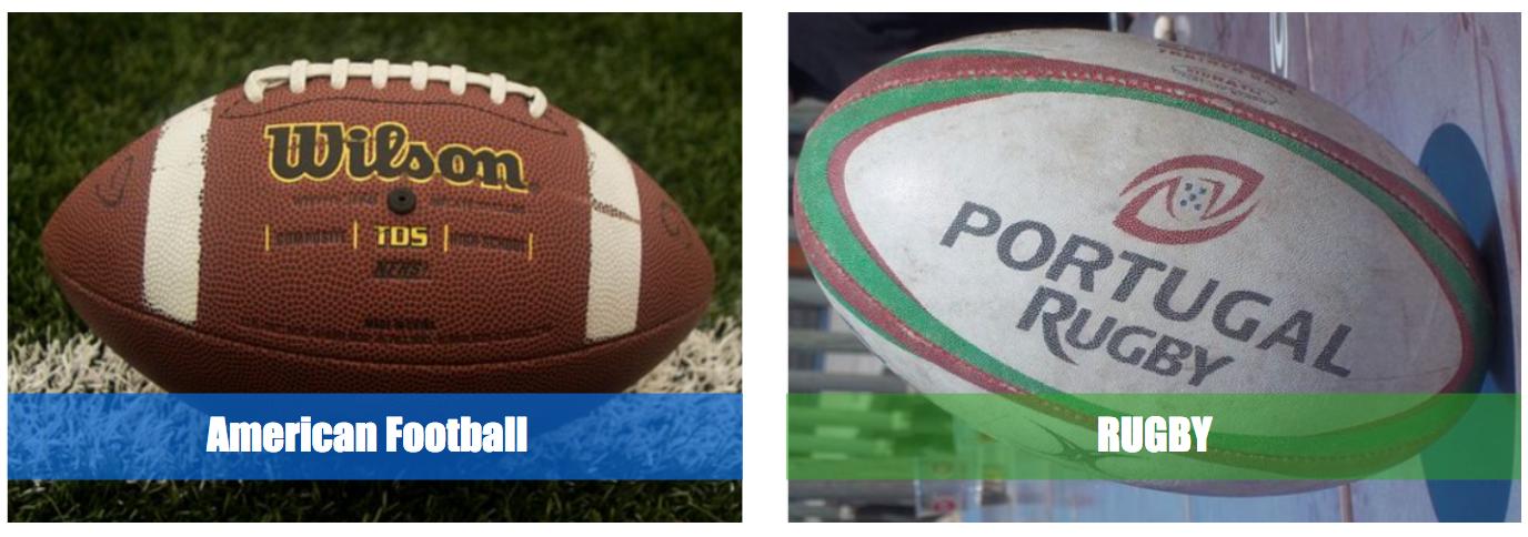 アメフトとラグビーのボール