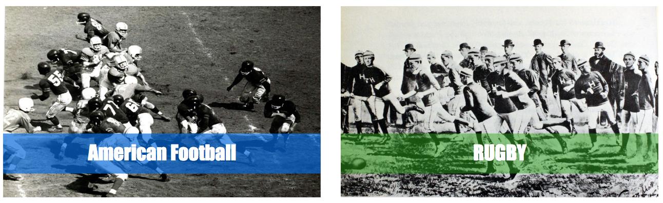 アメフトとラグビーの歴史