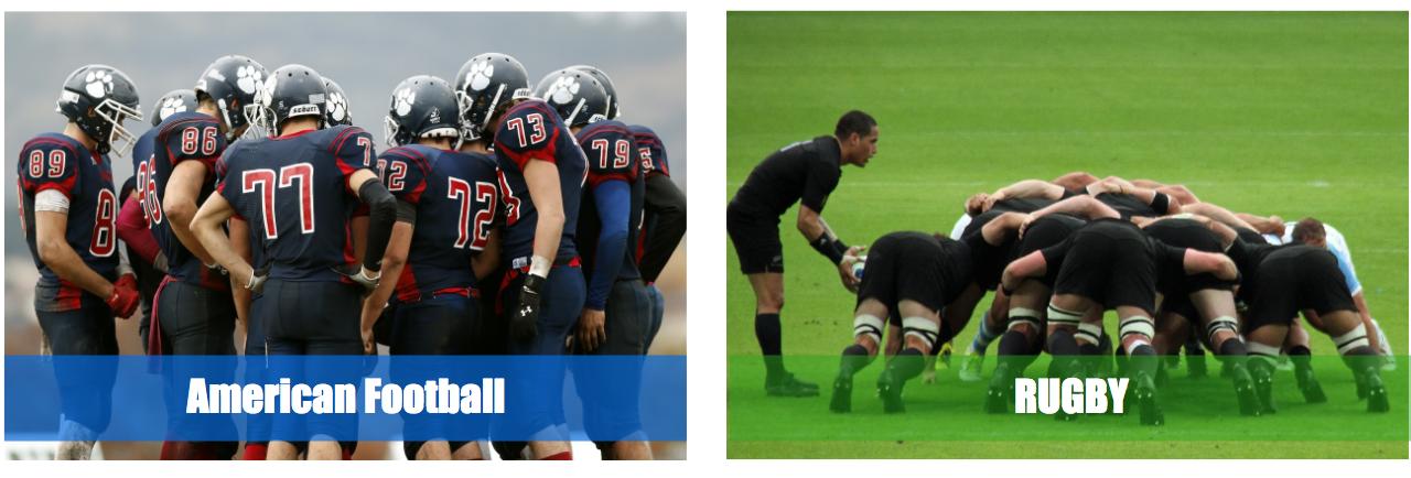 アメフトとラグビーの人数(選手交代ルール)