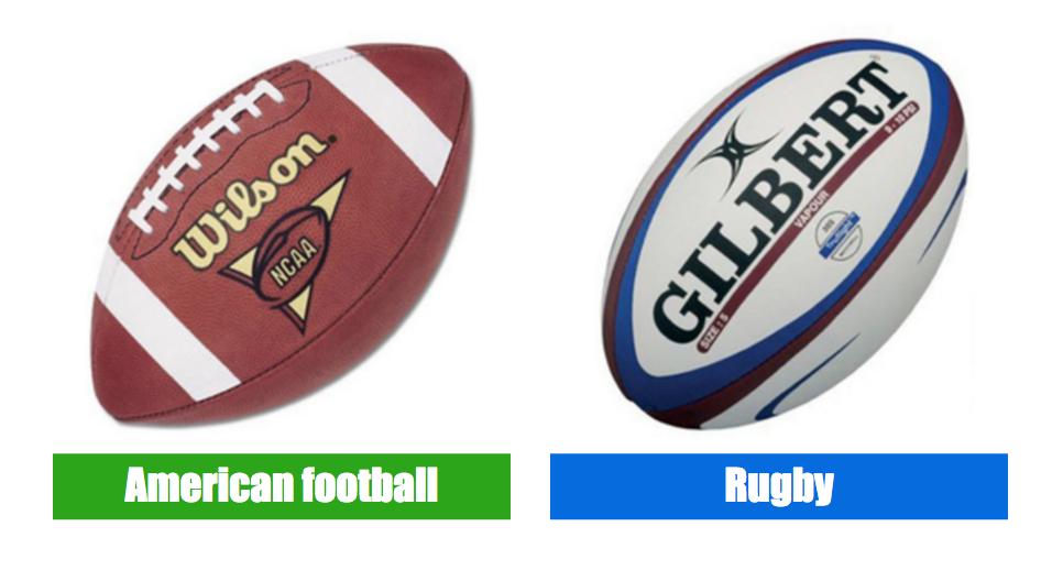 ラグビーとアメフトのボールの違い