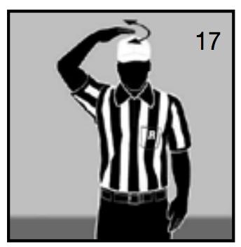 アメフト 審判 シグナル キャッチ不可能なパス