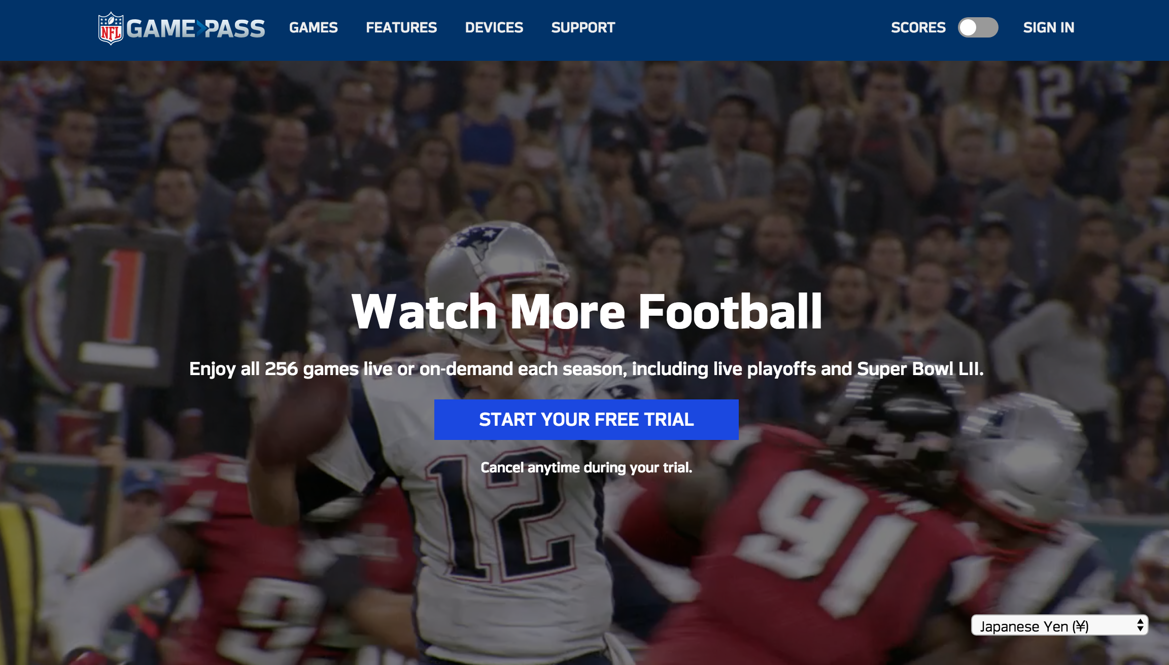 NFL公式のGAME PASS