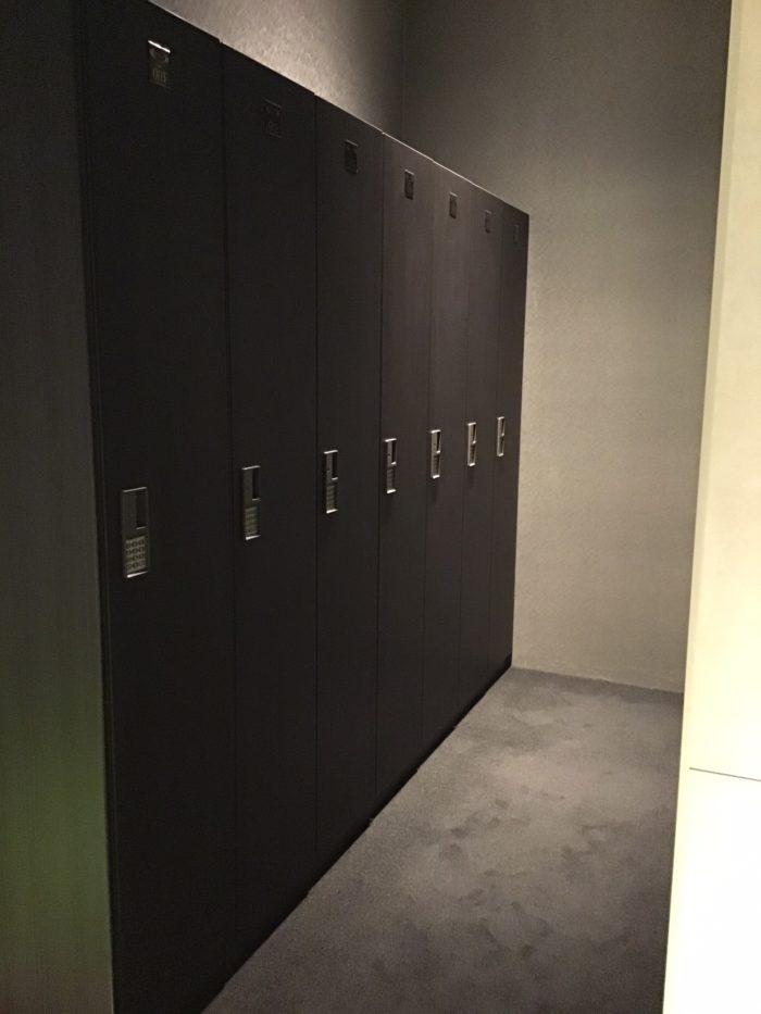 ライザップゴルフ京都店の更衣室
