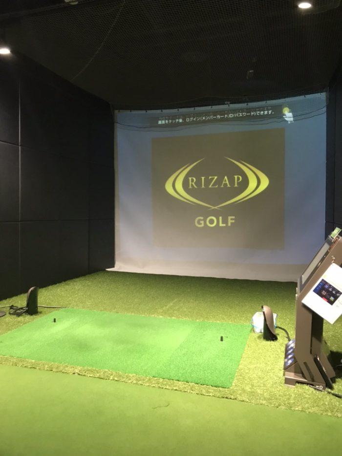 ライザップゴルフ名古屋栄店の練習ブース