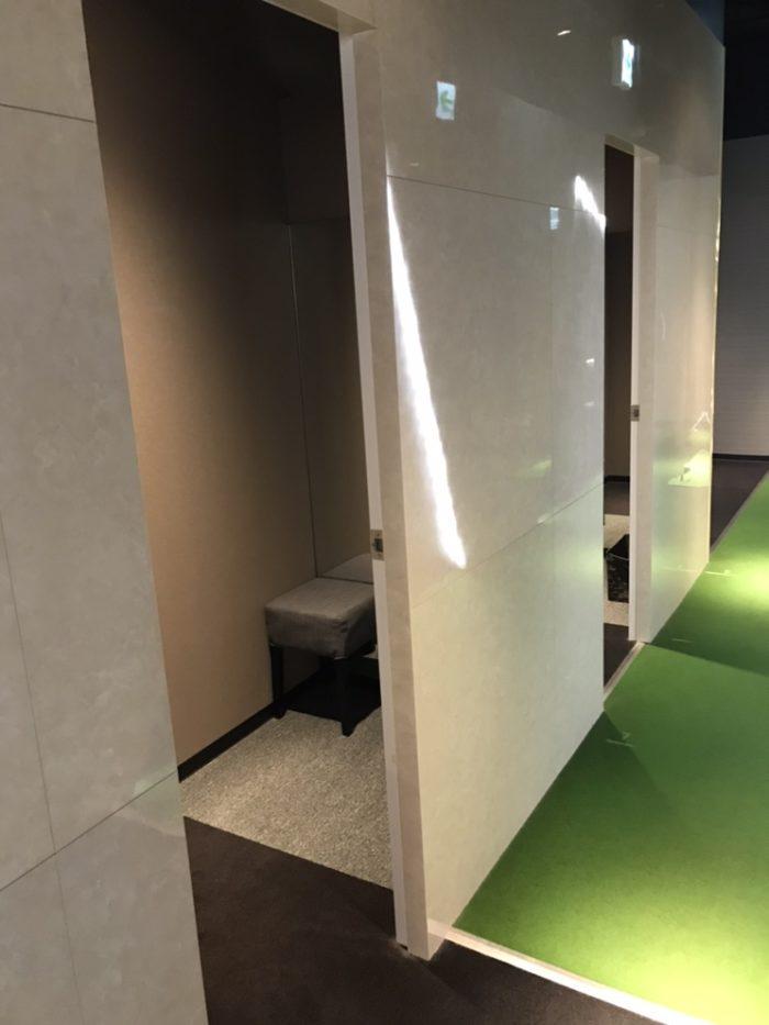 ライザップゴルフ名古屋栄店の更衣室