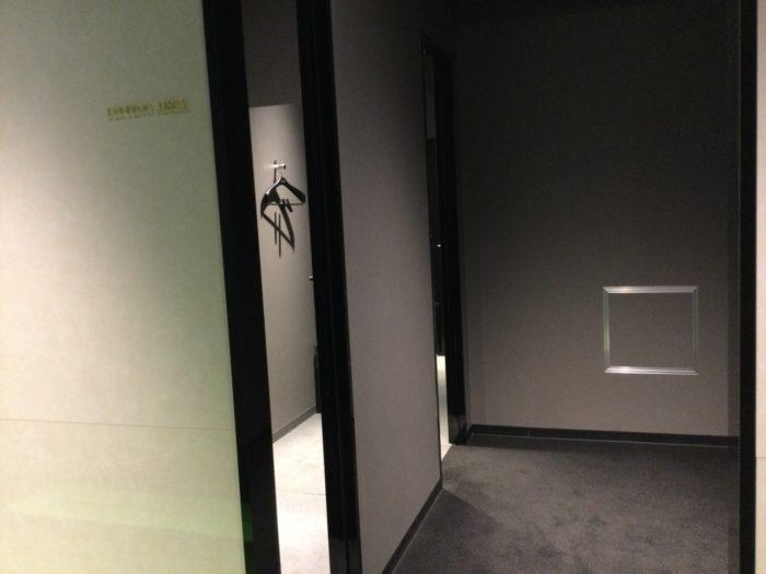 ライザップゴルフ名古屋駅前店の更衣室