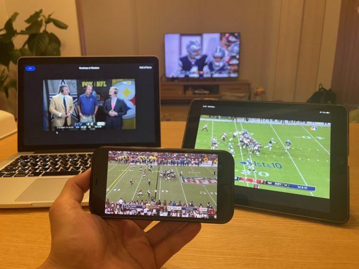 NFLゲームパスの同時視聴