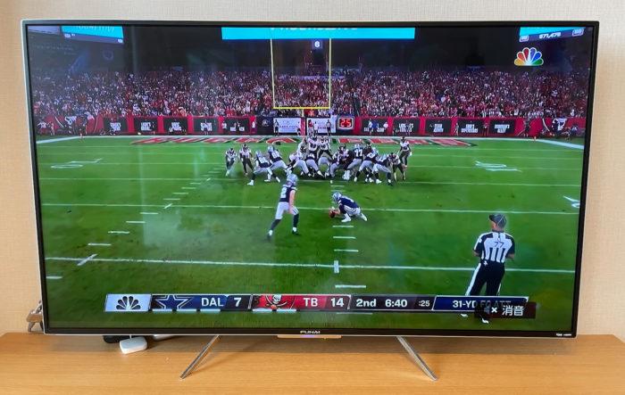 NFLゲームパスのTV画面