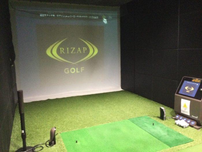 ライザップゴルフ大宮店の練習ブース